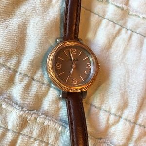 Fossil Watch with Brown Leather Band